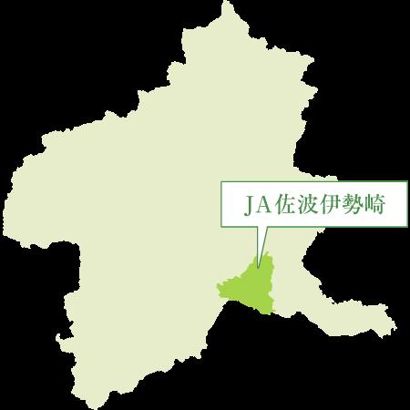 JA佐波伊勢崎管内図(群馬県地図)